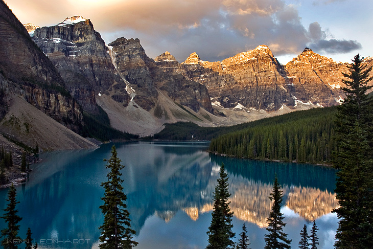 Moraine Lake and the Valley of the Ten Peaks is arguably the most spectacular glacial lake in the Canadian Rockies. & Alberta u2013 Kenn Leonhardt Nature and Travel Photography