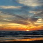 Setting Sun on the Beach